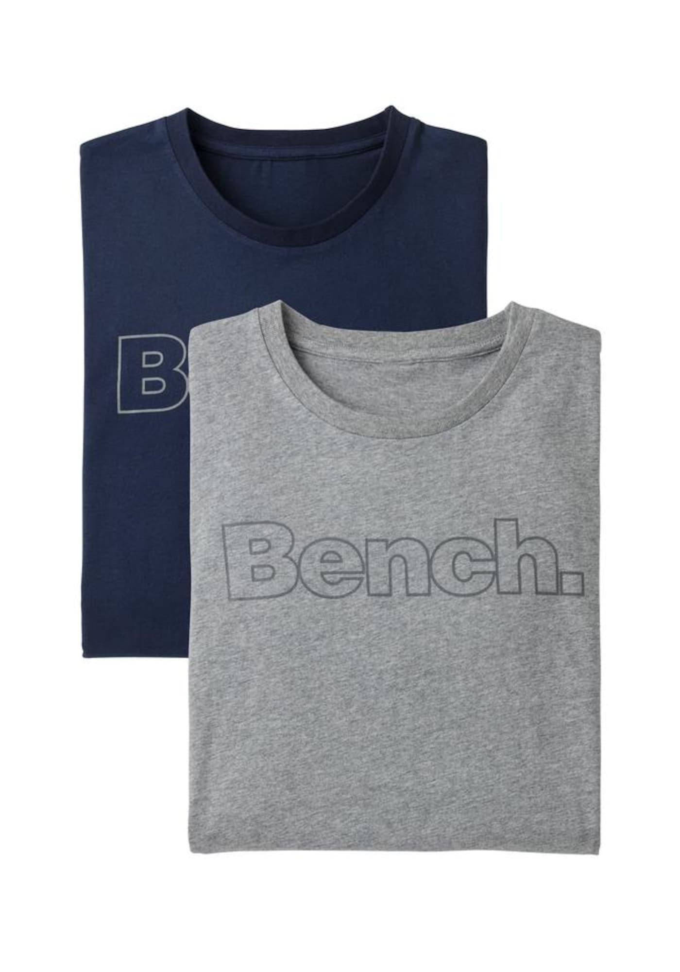 BENCH Marškinėliai margai mėlyna / margai pilka