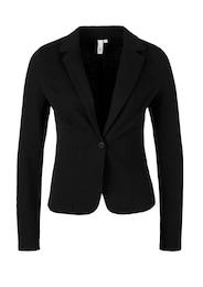 Q/S Designed By Damen Taillierter Sweatblazer schwarz | 04056523616217