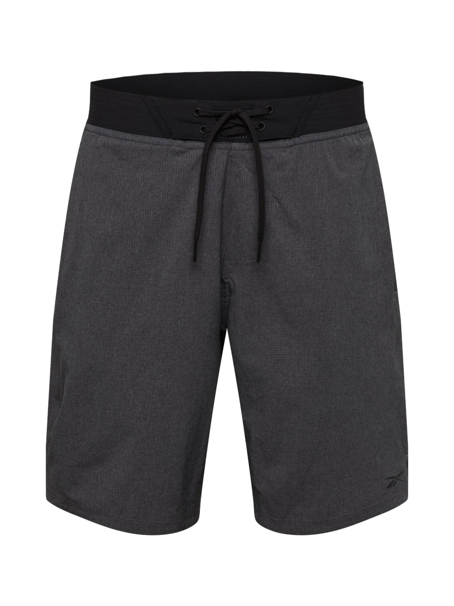 REEBOK Sportinės kelnės juoda / pilka
