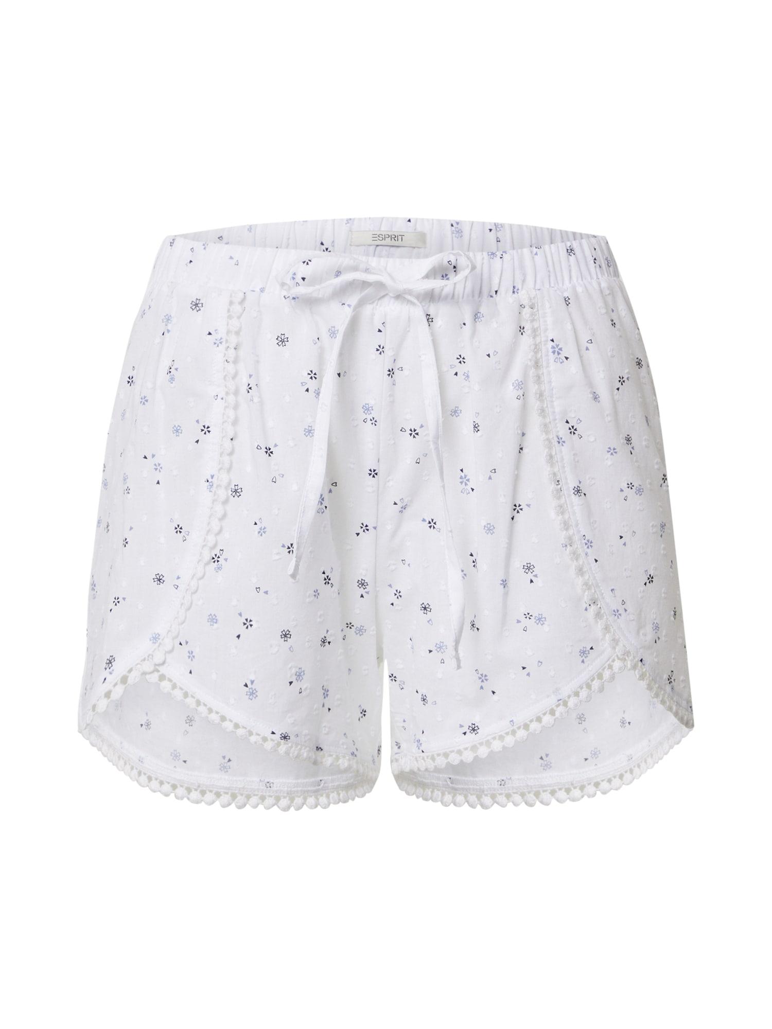 ESPRIT Pyžamové nohavice 'DACE CAS NW Nightpants'  biela