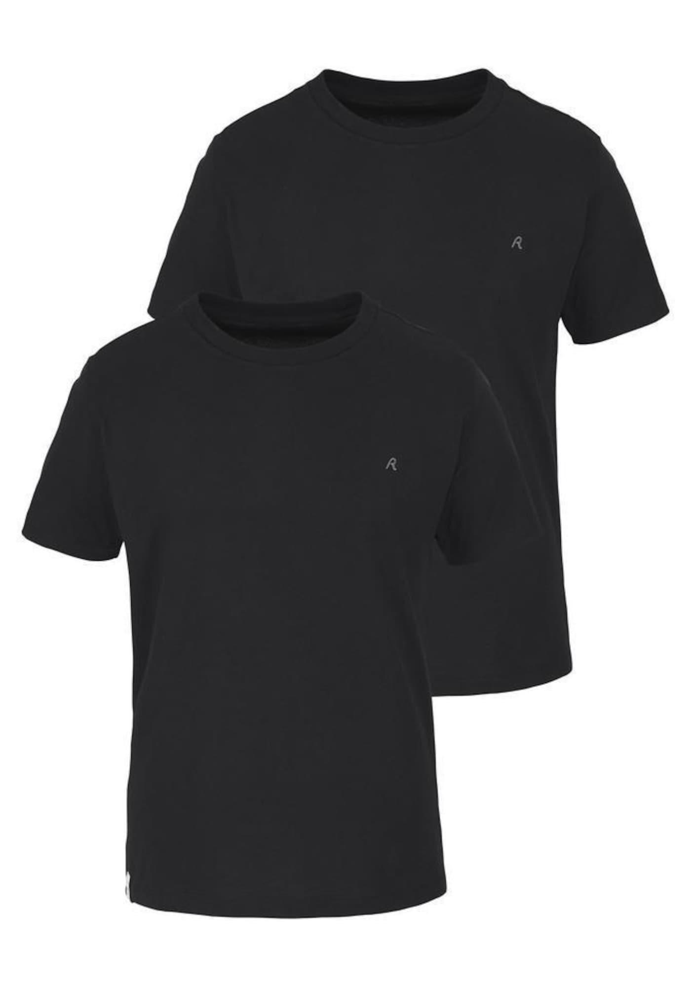 REPLAY Marškinėliai juoda