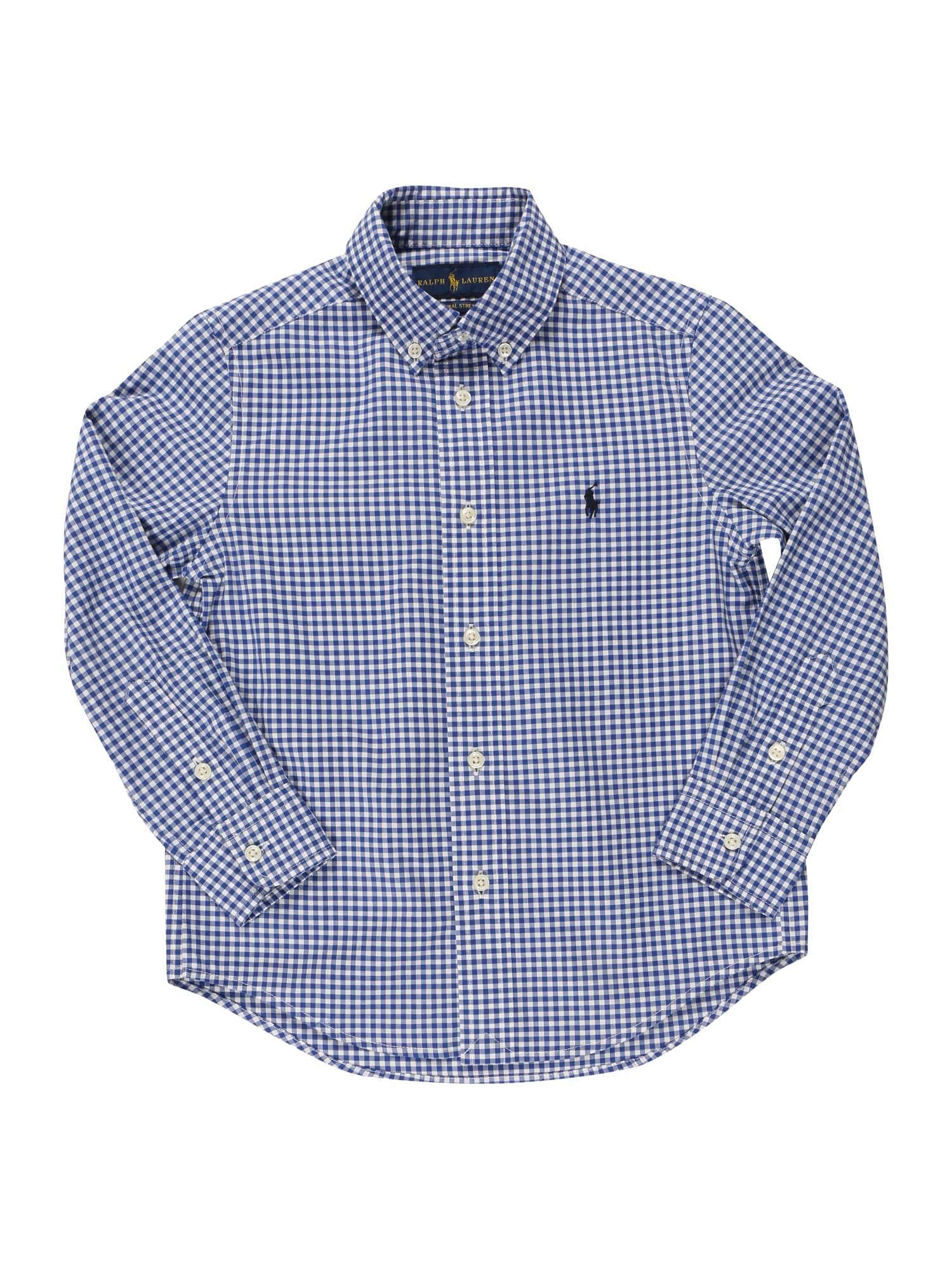 POLO RALPH LAUREN Marškiniai mėlyna / balta