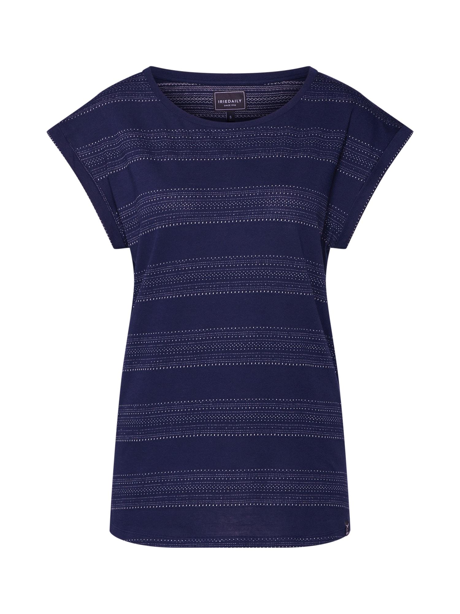 Iriedaily Marškinėliai 'Neila' tamsiai mėlyna / balta