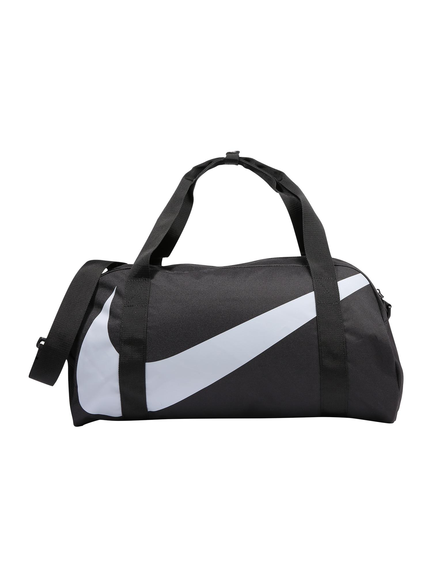 NIKE Sportinis krepšys juoda / balta