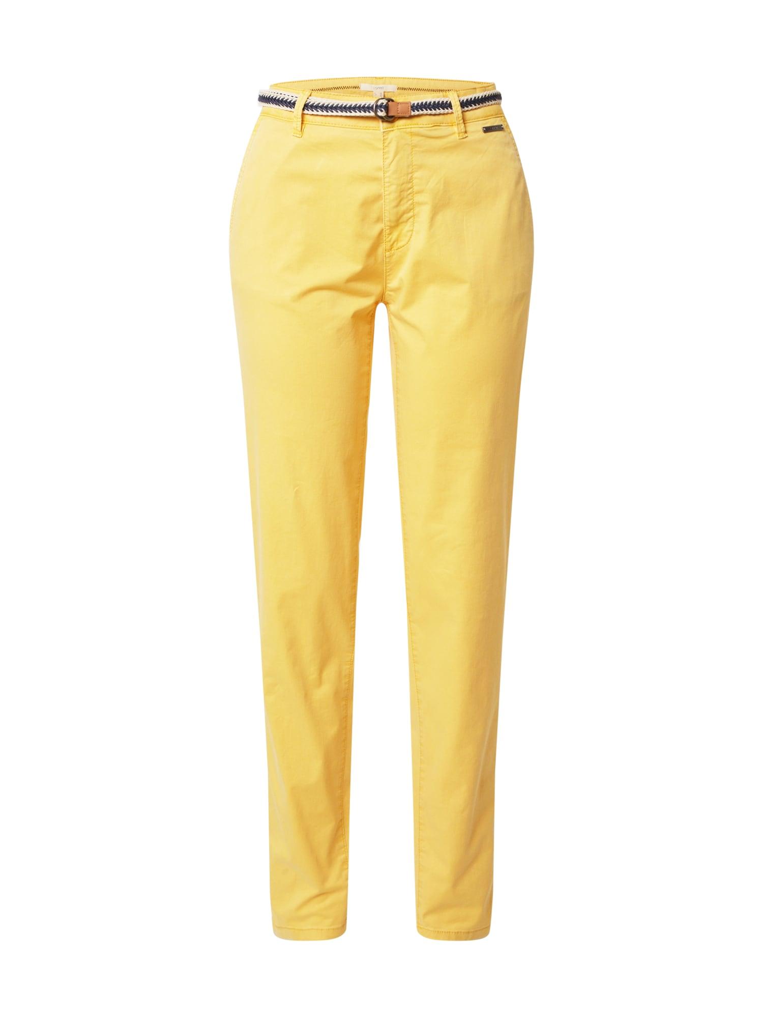 ESPRIT Chino stiliaus kelnės geltona