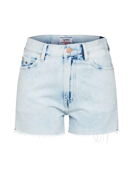 Hosen für Frauen - Tommy Jeans Jeansshorts blue denim rot weiß  - Onlineshop ABOUT YOU