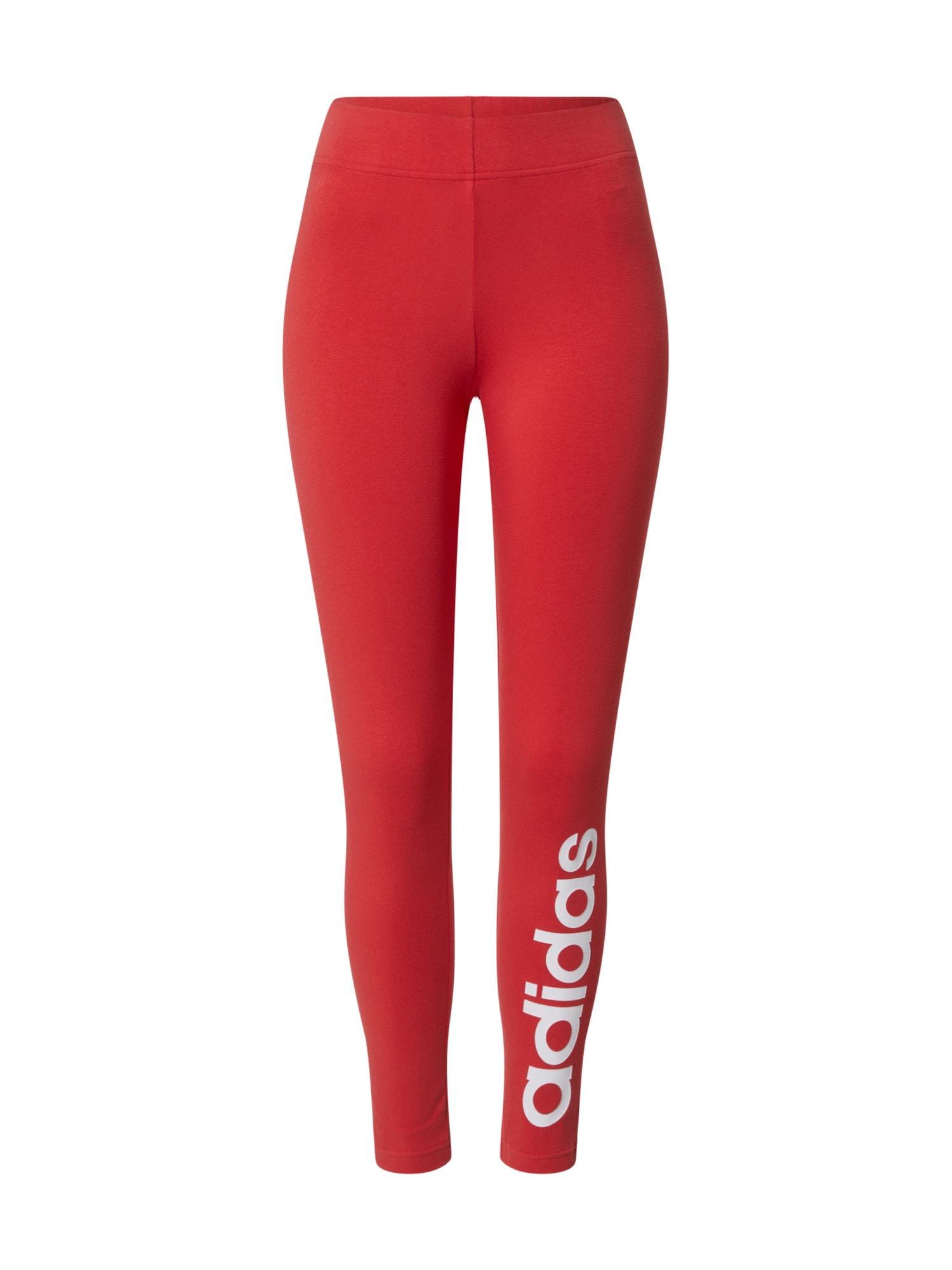 ADIDAS PERFORMANCE Sportinės kelnės 'W E LIN TIGHT' raudona