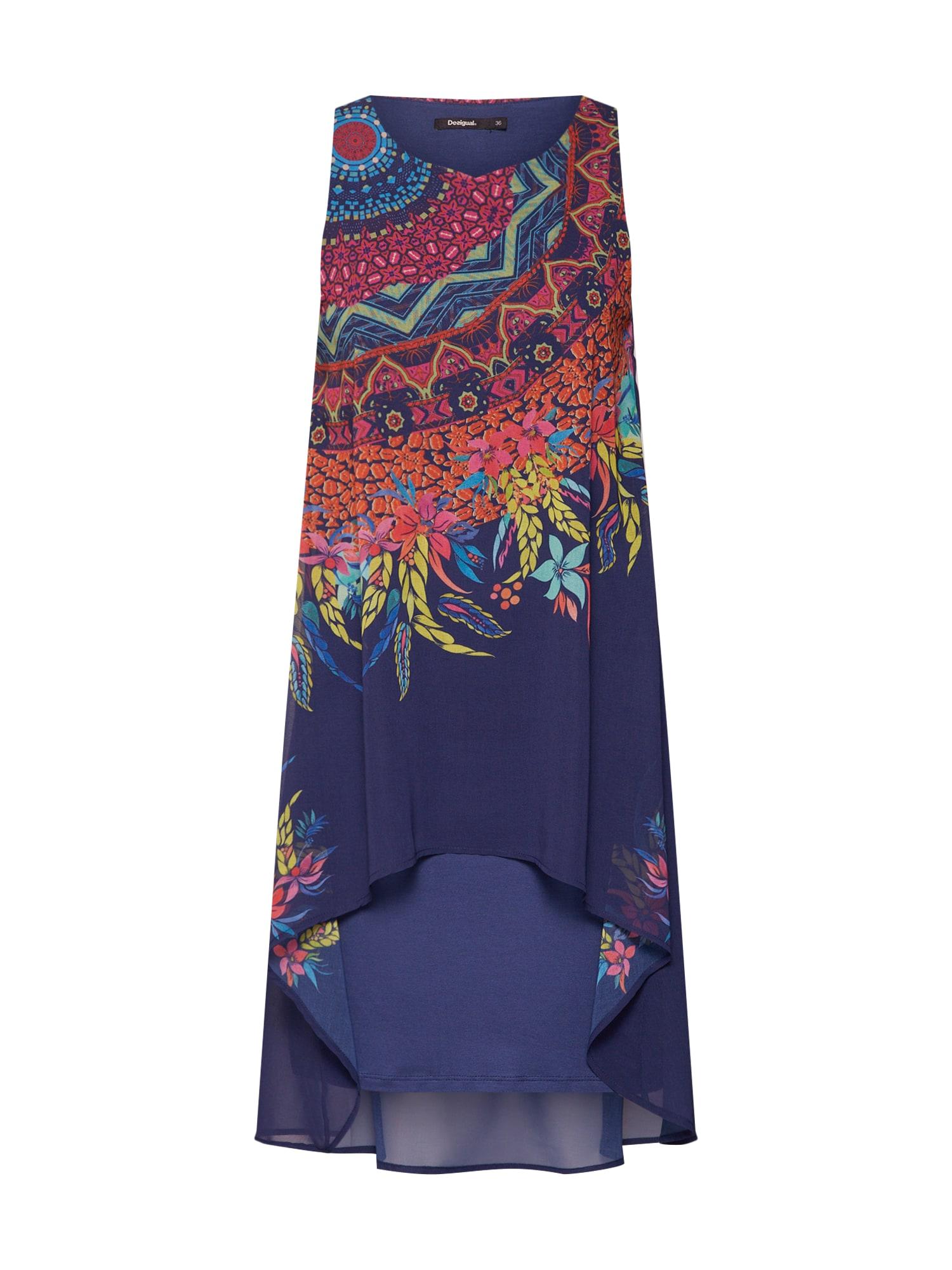Šaty VEST_ADRI námořnická modř mix barev Desigual