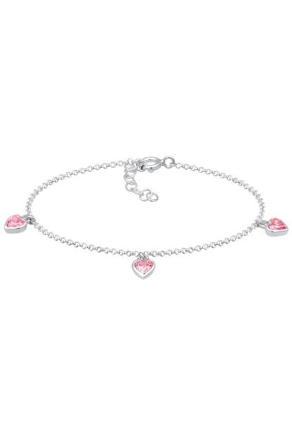 Armbaender für Frauen - ELLI Armband 'Herz' pink silber  - Onlineshop ABOUT YOU