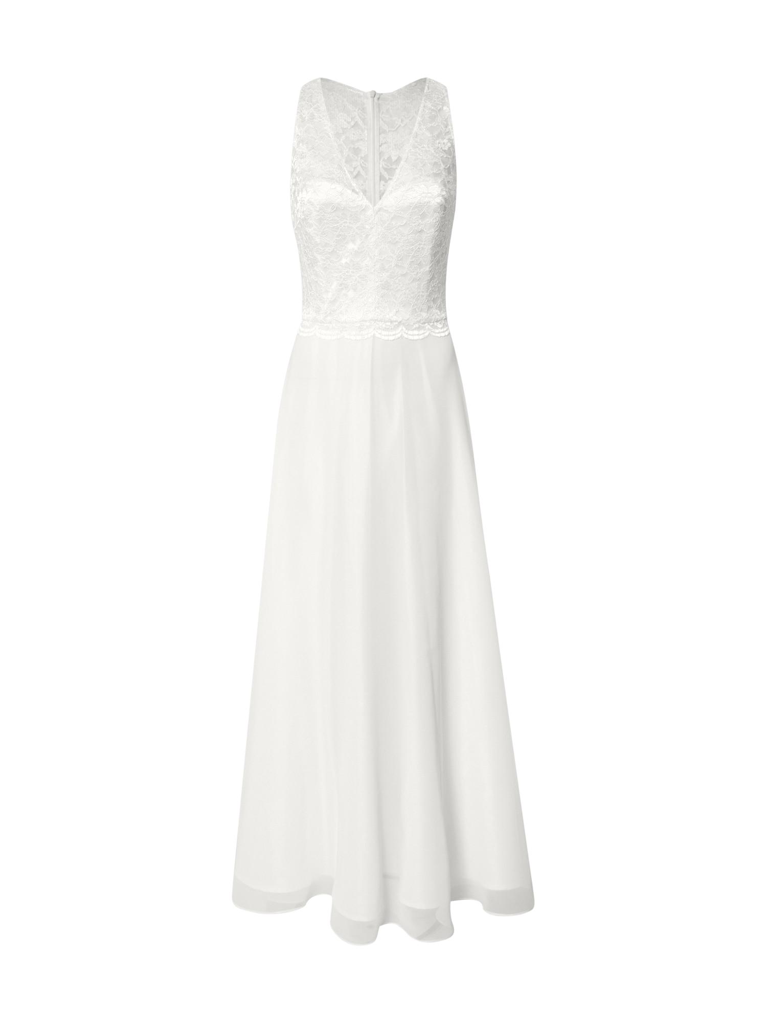 SWING Vakarinė suknelė balta / kremo