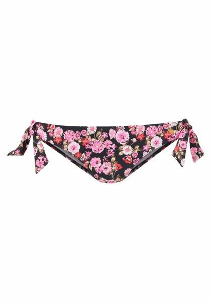 Bademode für Frauen - LASCANA Bikinihose 'Blümli' pink schwarz  - Onlineshop ABOUT YOU