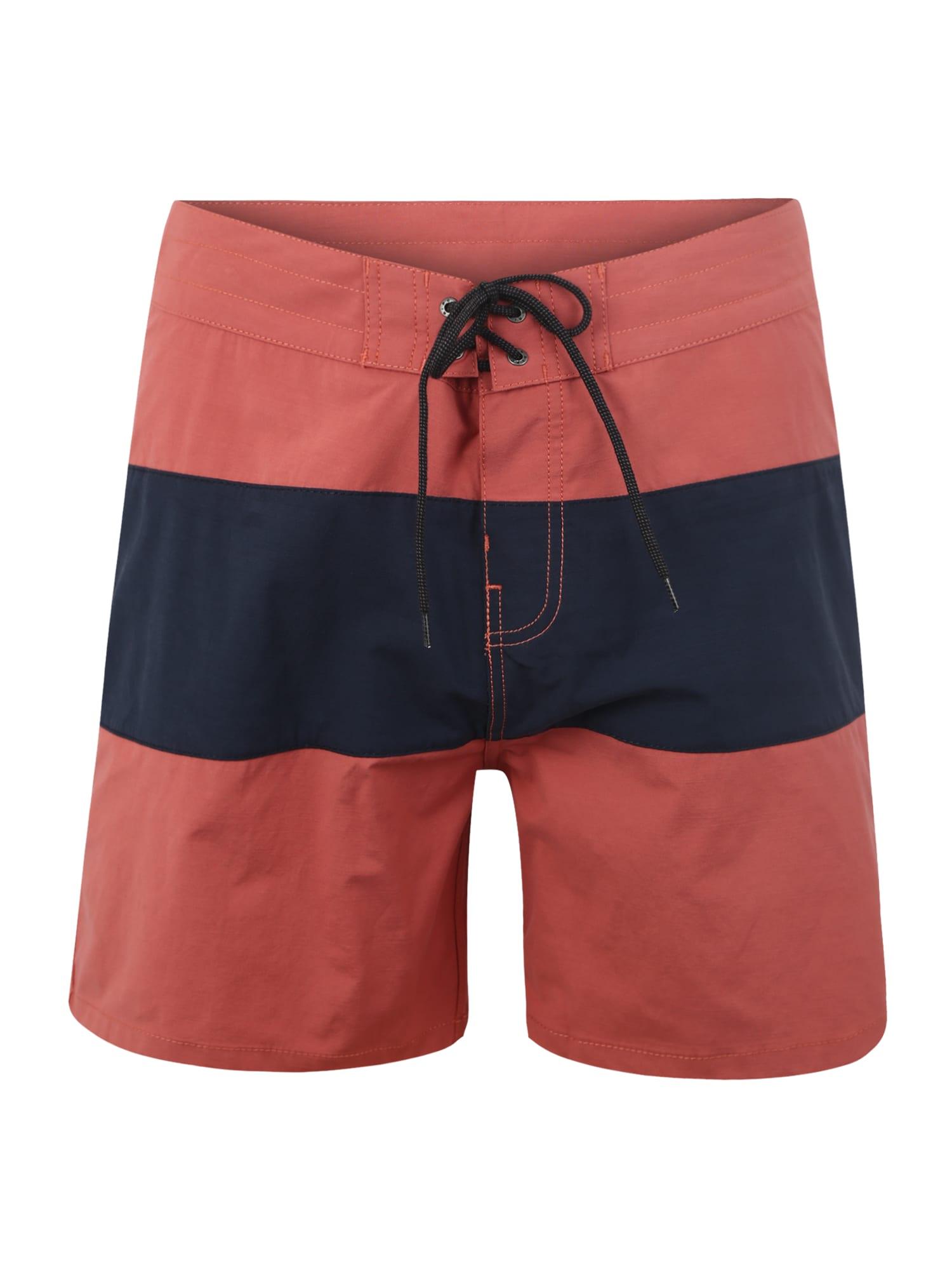Plavecké šortky RETRO PANELED 17 modrá červená RIP CURL