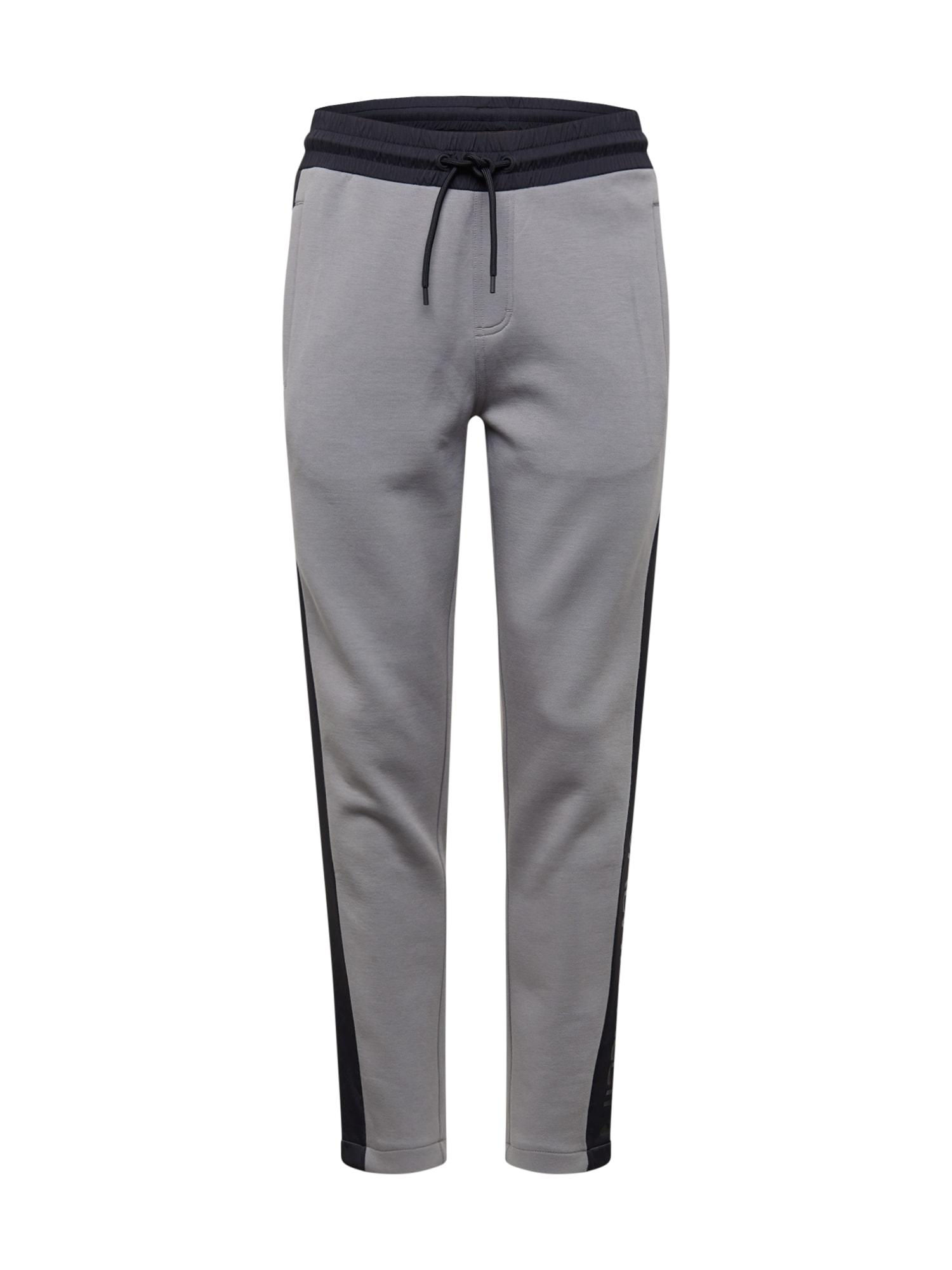 Calvin Klein Nohavice  čierna / sivá / námornícka modrá