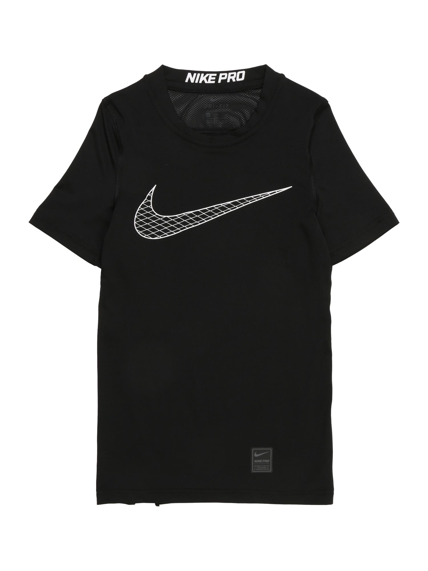 Funkční tričko Boys Nike Pro Top černá bílá NIKE