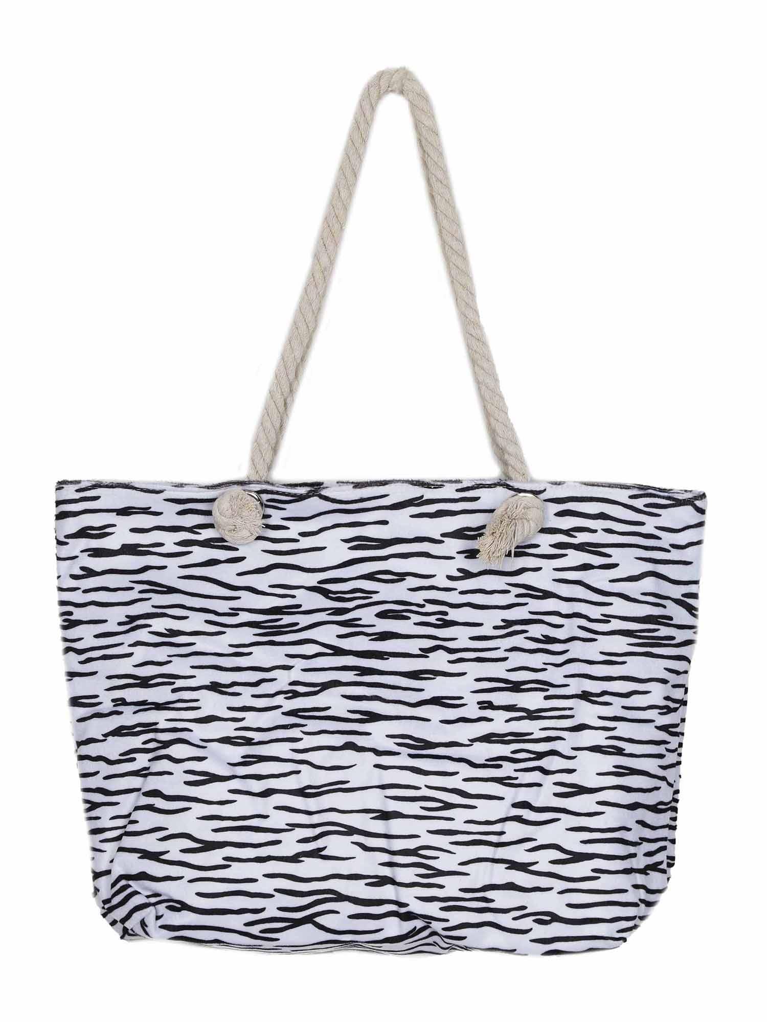 Plážová taška Tessa černá bílá ABOUT YOU