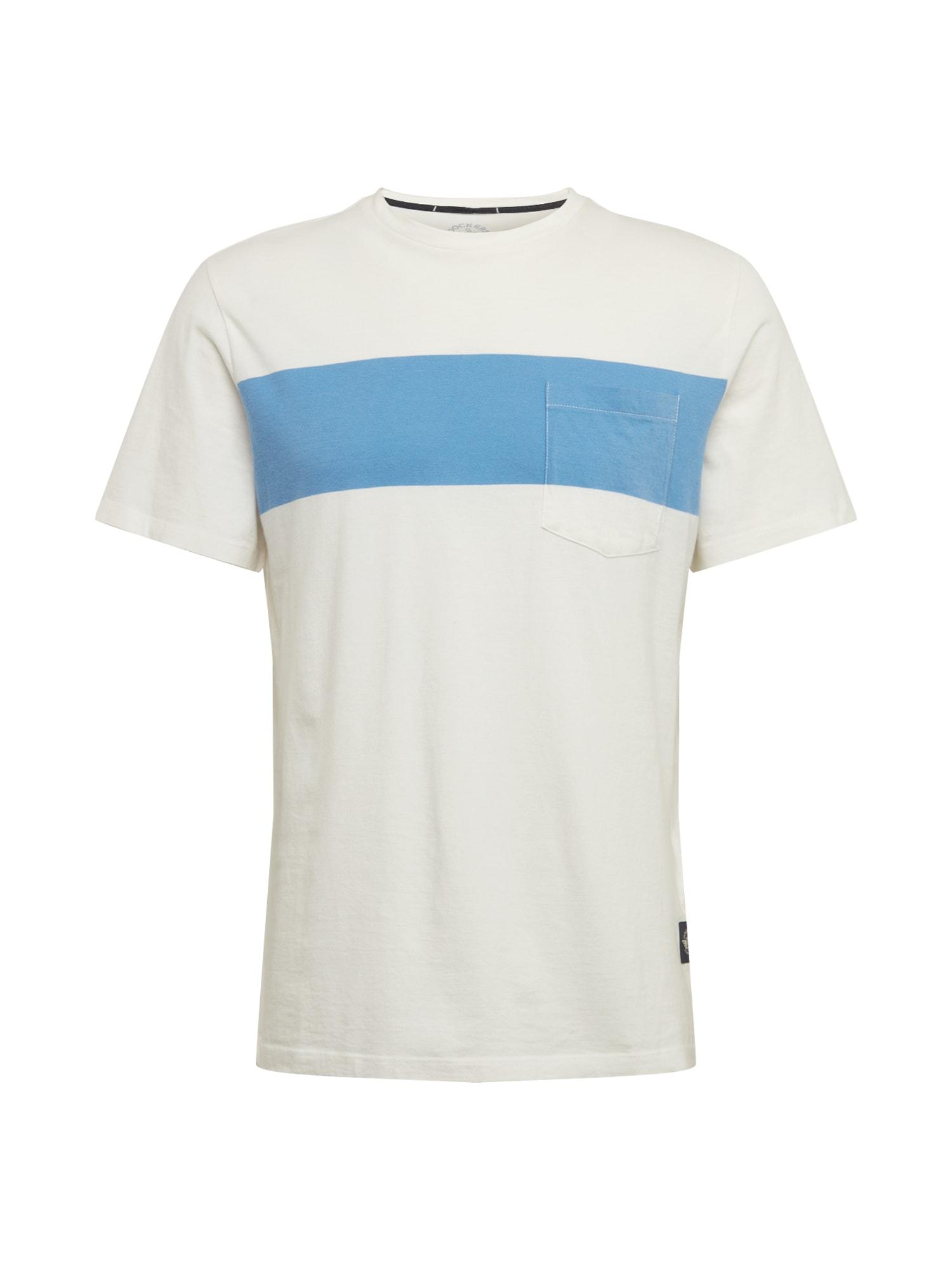Dockers Marškinėliai balta / šviesiai mėlyna / koralų splava