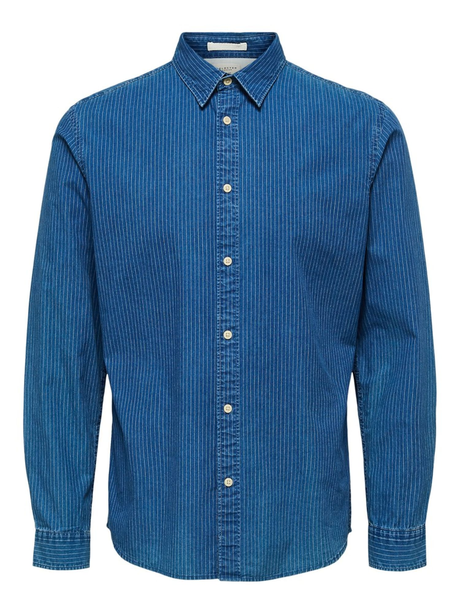 SELECTED HOMME Dalykiniai marškiniai šviesiai mėlyna / dangaus žydra