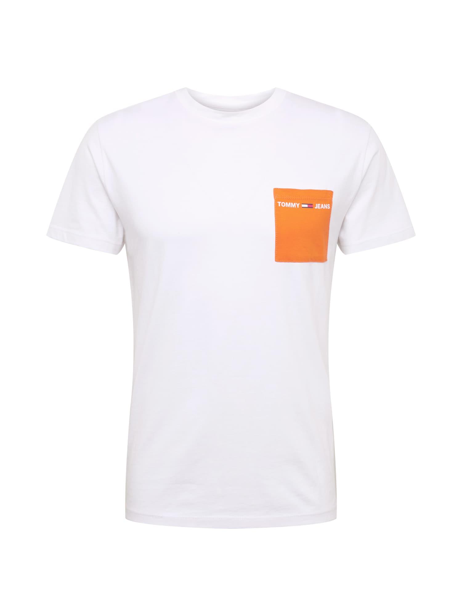 Tričko oranžová bílá Tommy Jeans
