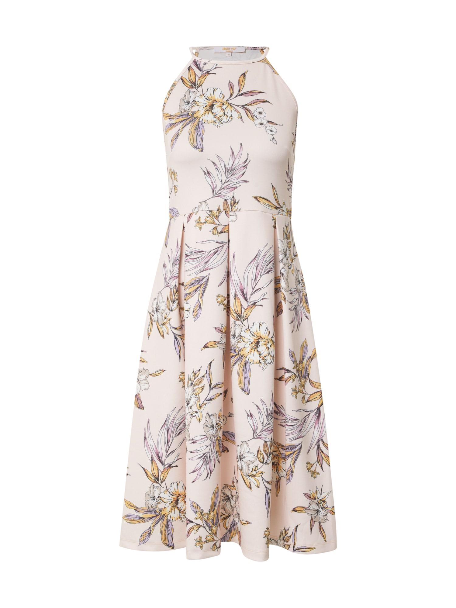 ABOUT YOU Suknelė 'Jeromina' purpurinė / rožių spalva / geltona