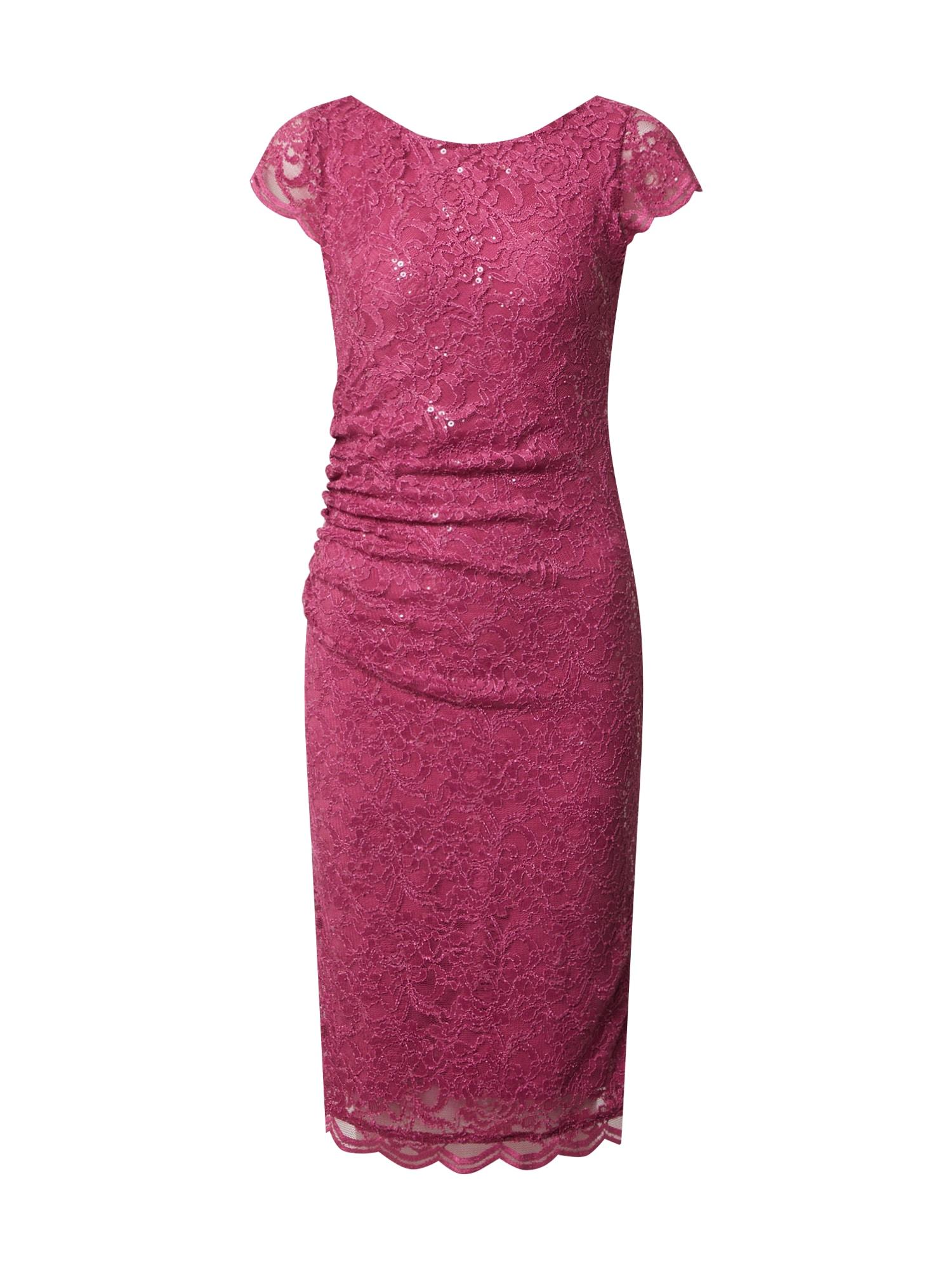 SWING Kokteilinė suknelė uogų spalva