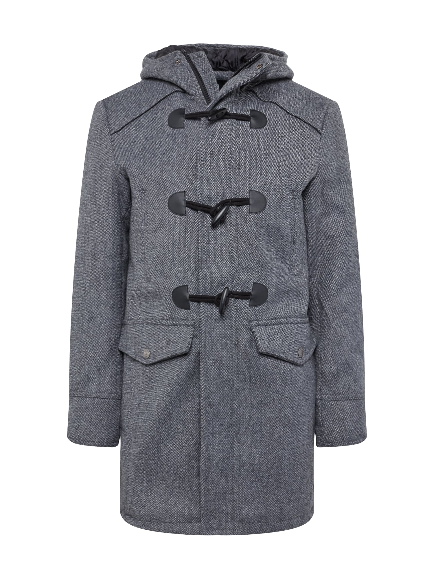 INDICODE JEANS Žieminis paltas 'Liam Solid' pilka