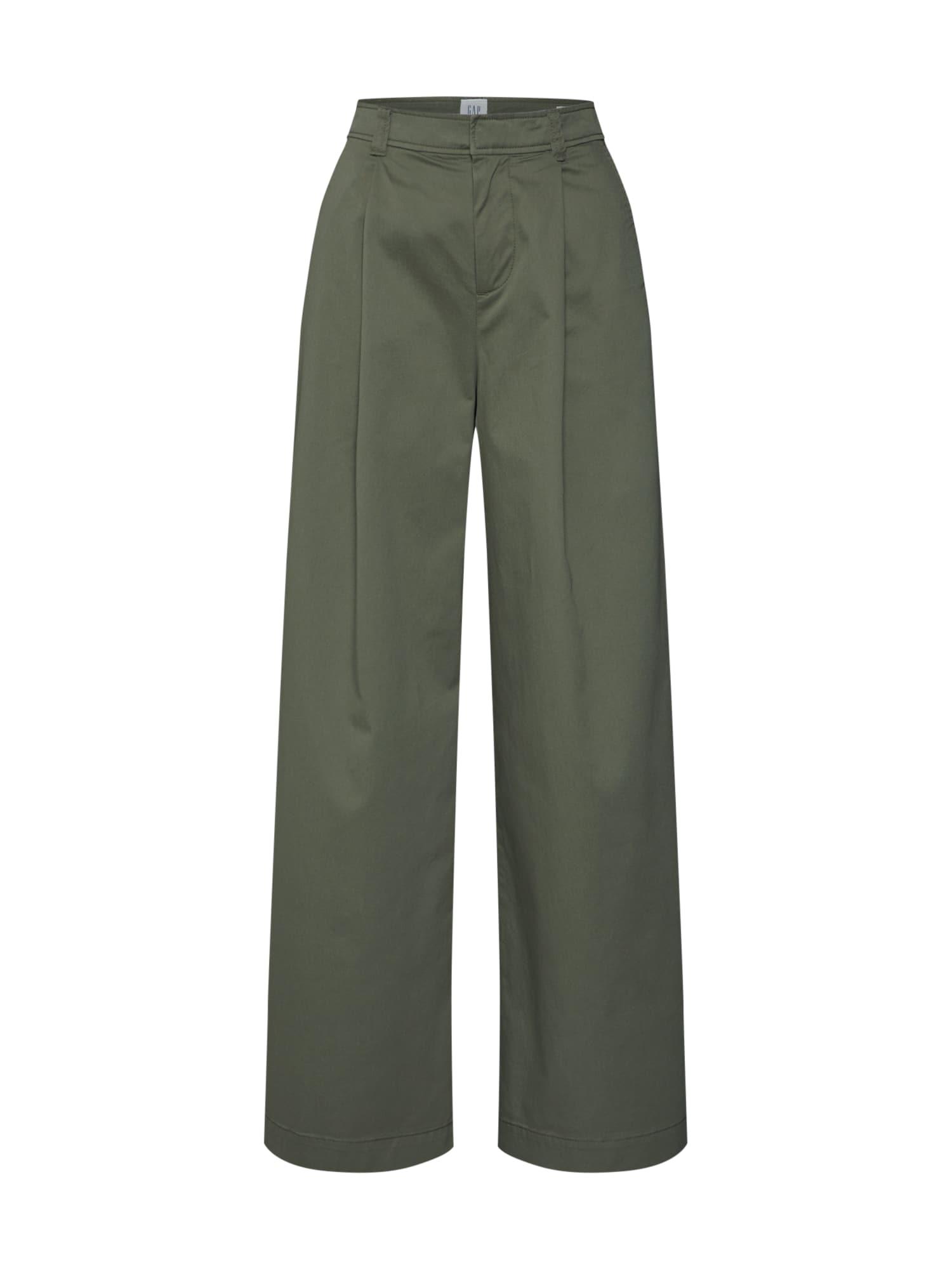 GAP Klostuotos kelnės rusvai žalia
