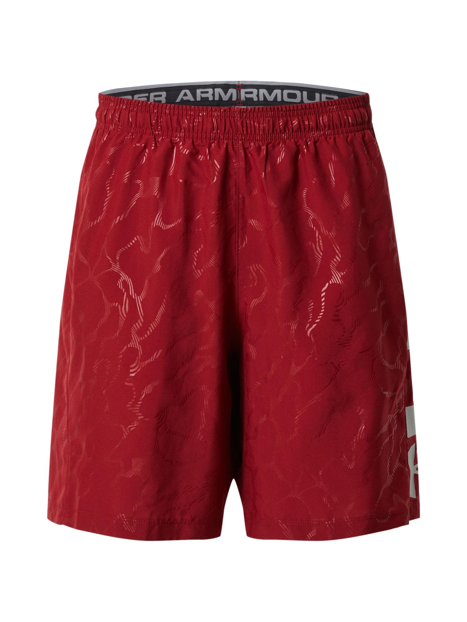 UNDER ARMOUR Športové nohavice  červené / vínovo červená