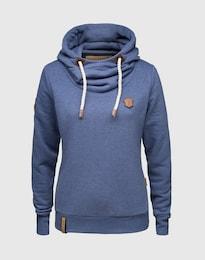 Naketano Damen Sweatshirt aus Baumwollmix blau   04049502199177