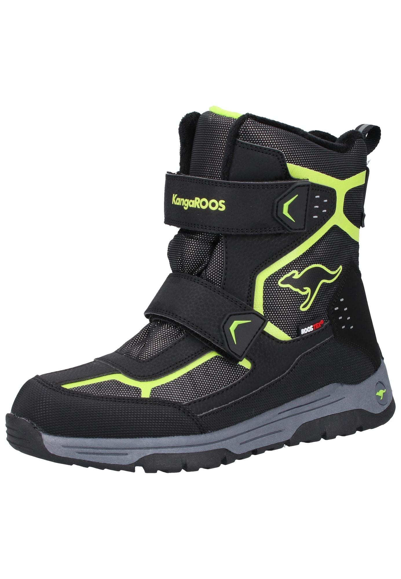 KangaROOS Sniego batai kivių spalva / juoda