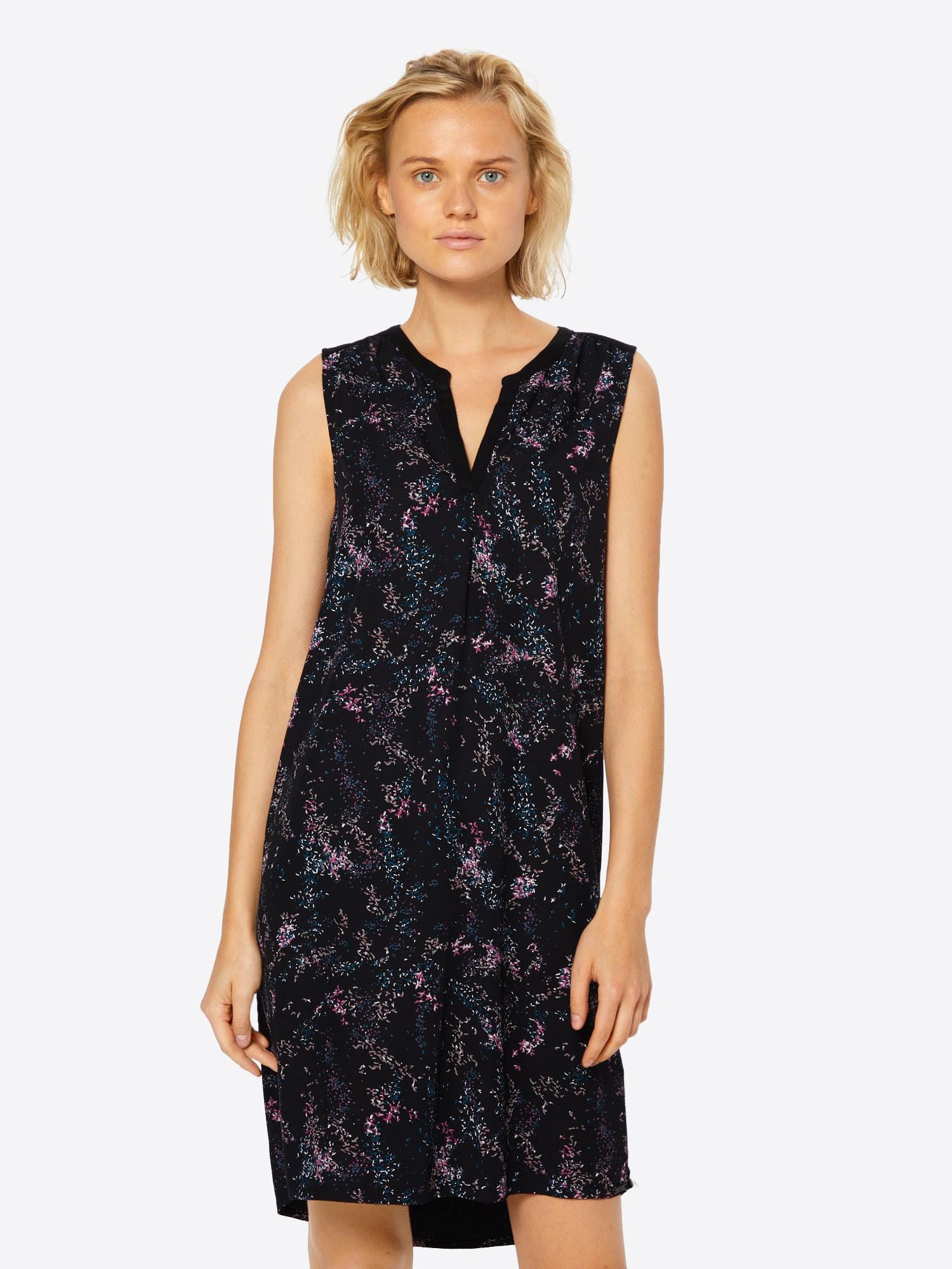 Q/S Designed By Kleid rosa / schwarz - Schwarzes Kleid