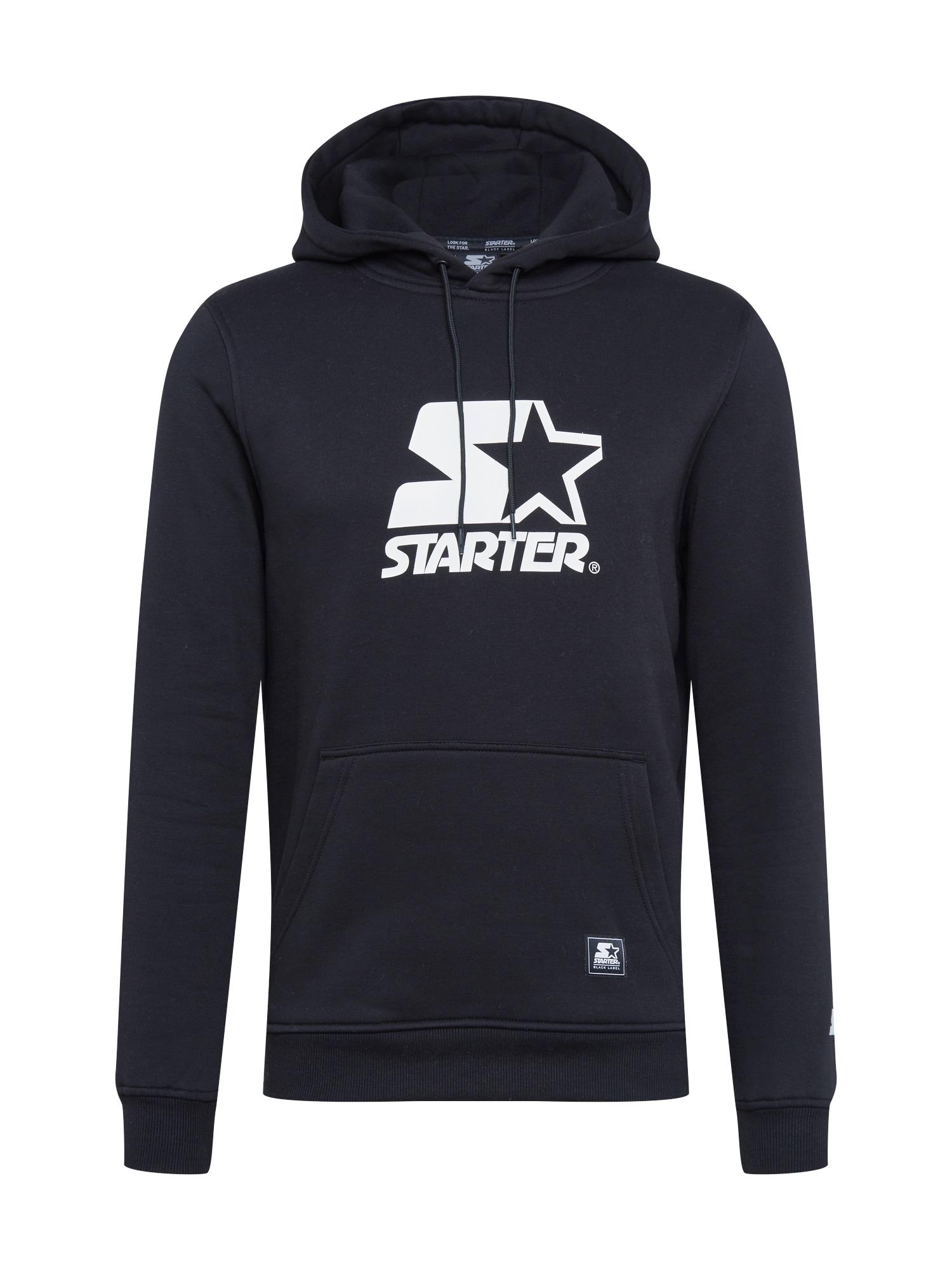 Starter Black Label Megztinis be užsegimo juoda / balta