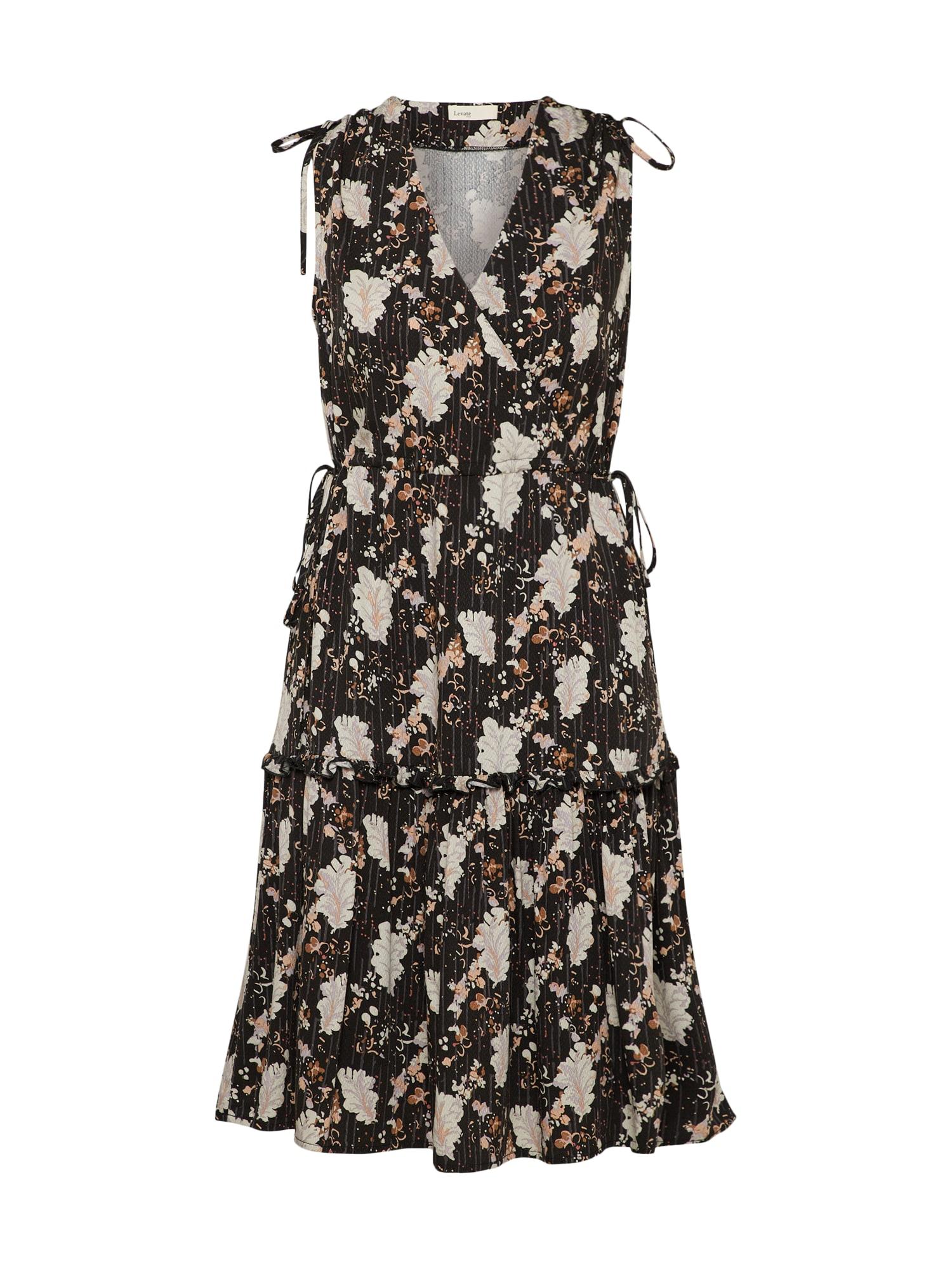 Letní šaty LR-BECKIE 1 krémová černá Levete Room