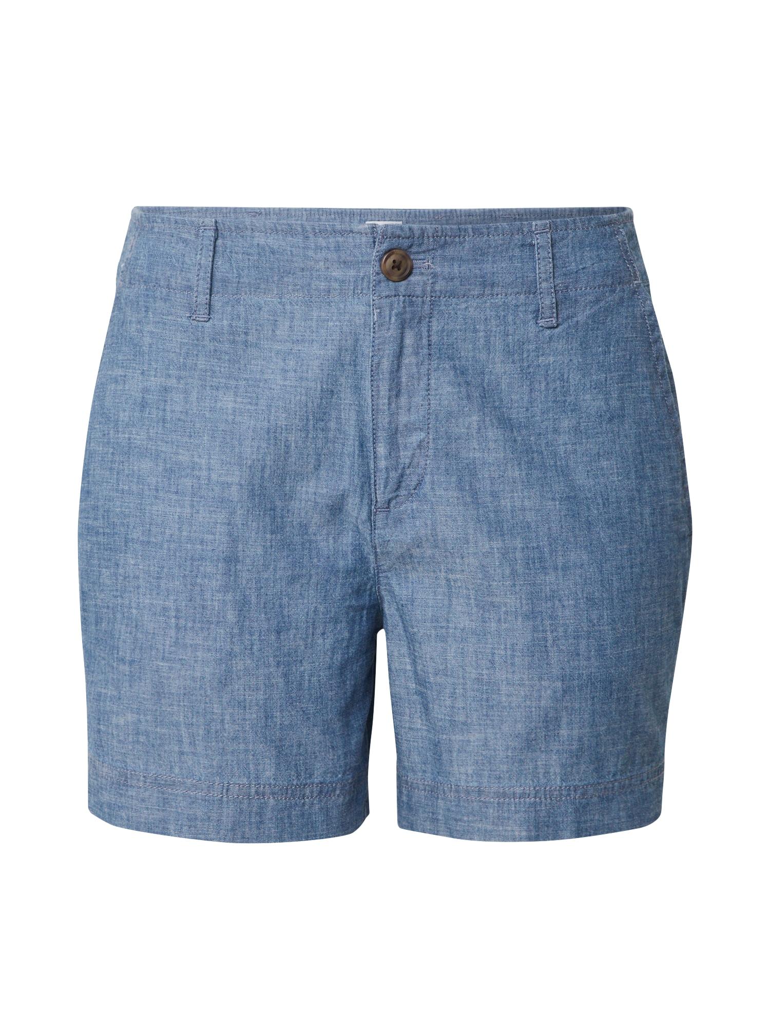 GAP Chino stiliaus kelnės 'V-5 IN SHORT CHAMBRAY' indigo spalva