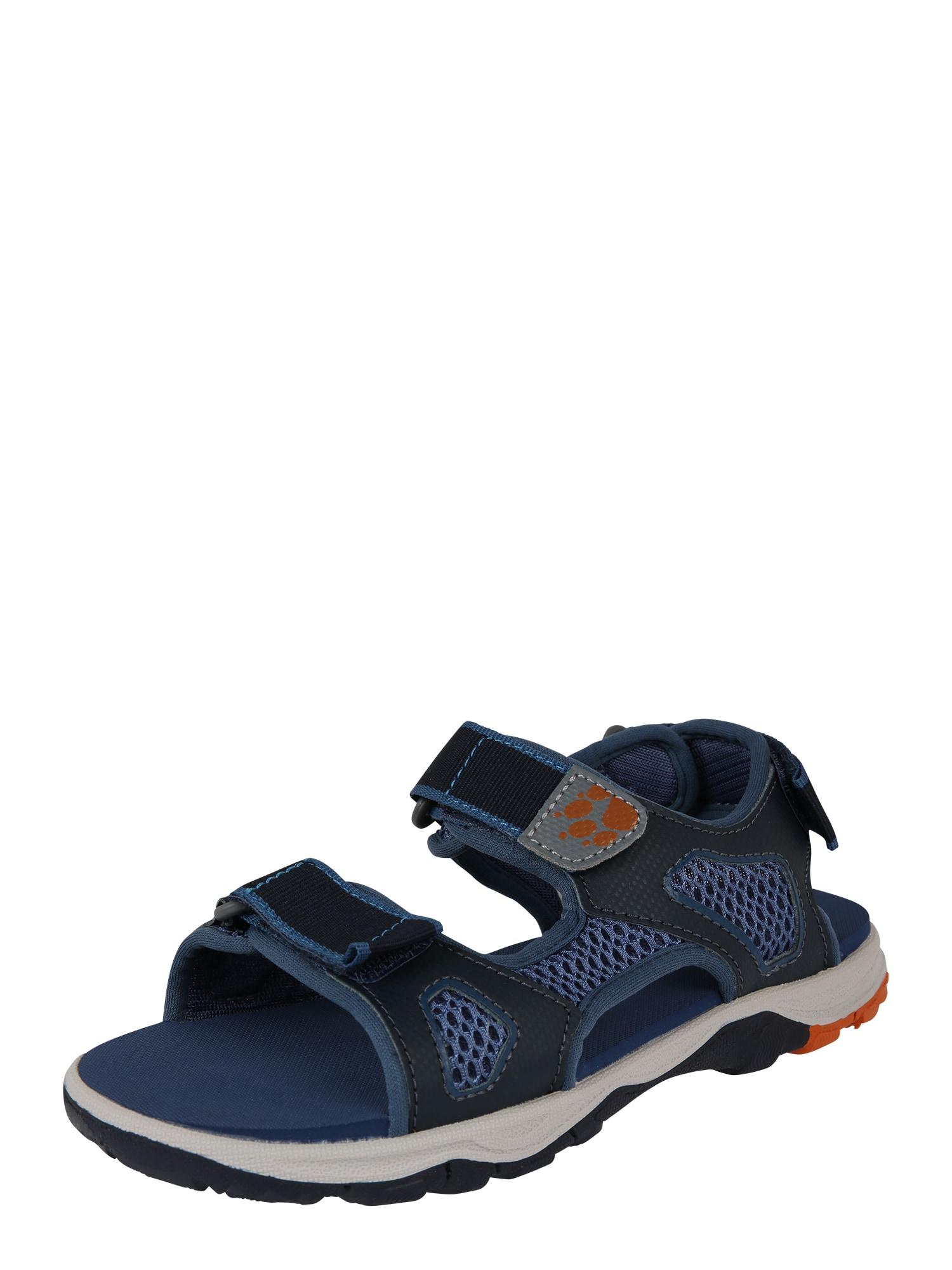 Otevřená obuv PUNO BEACH modrá JACK WOLFSKIN