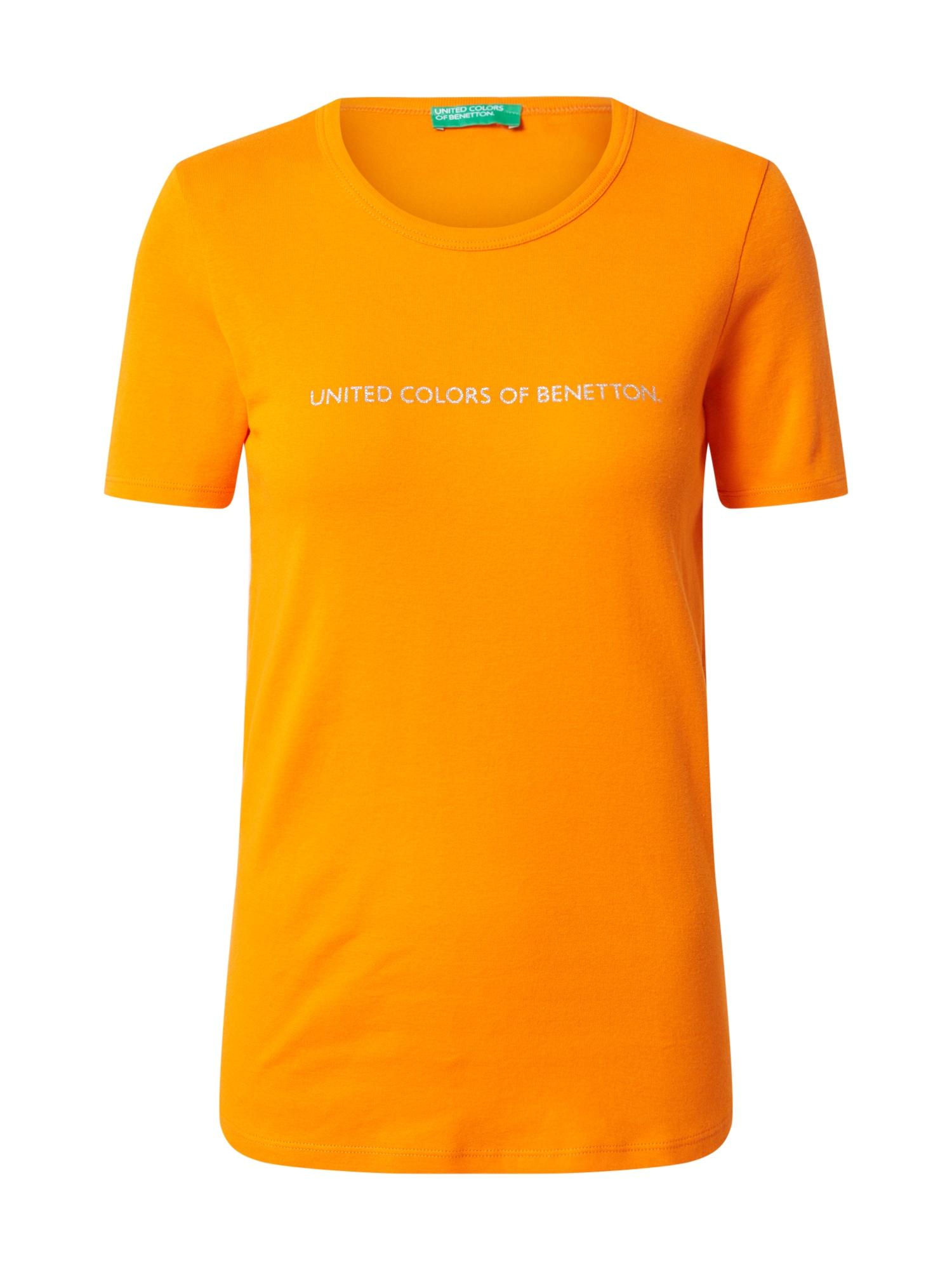 UNITED COLORS OF BENETTON Tričko  oranžová