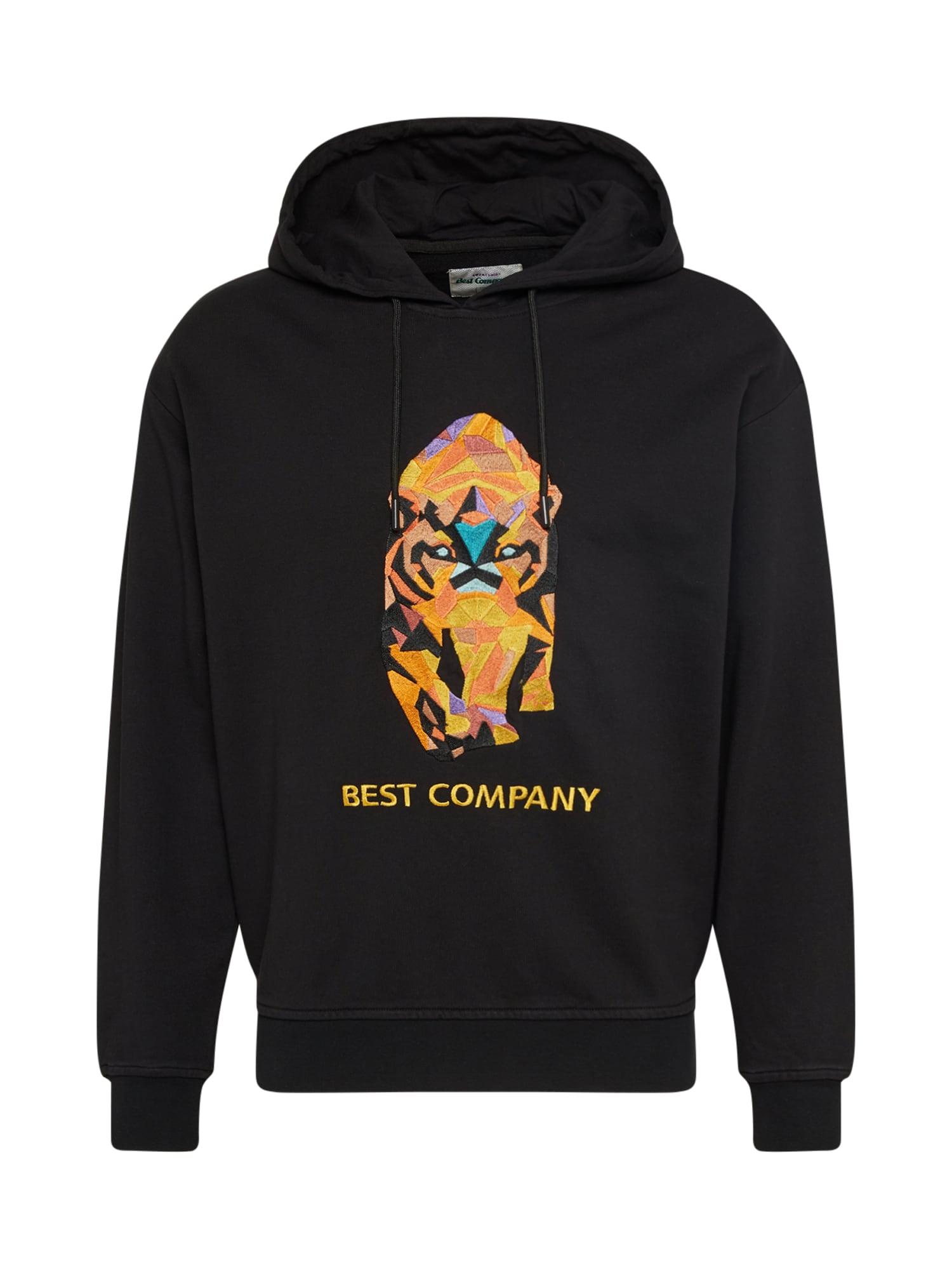 Best Company Megztinis be užsegimo 'HOODIE OVER TIGER' juoda