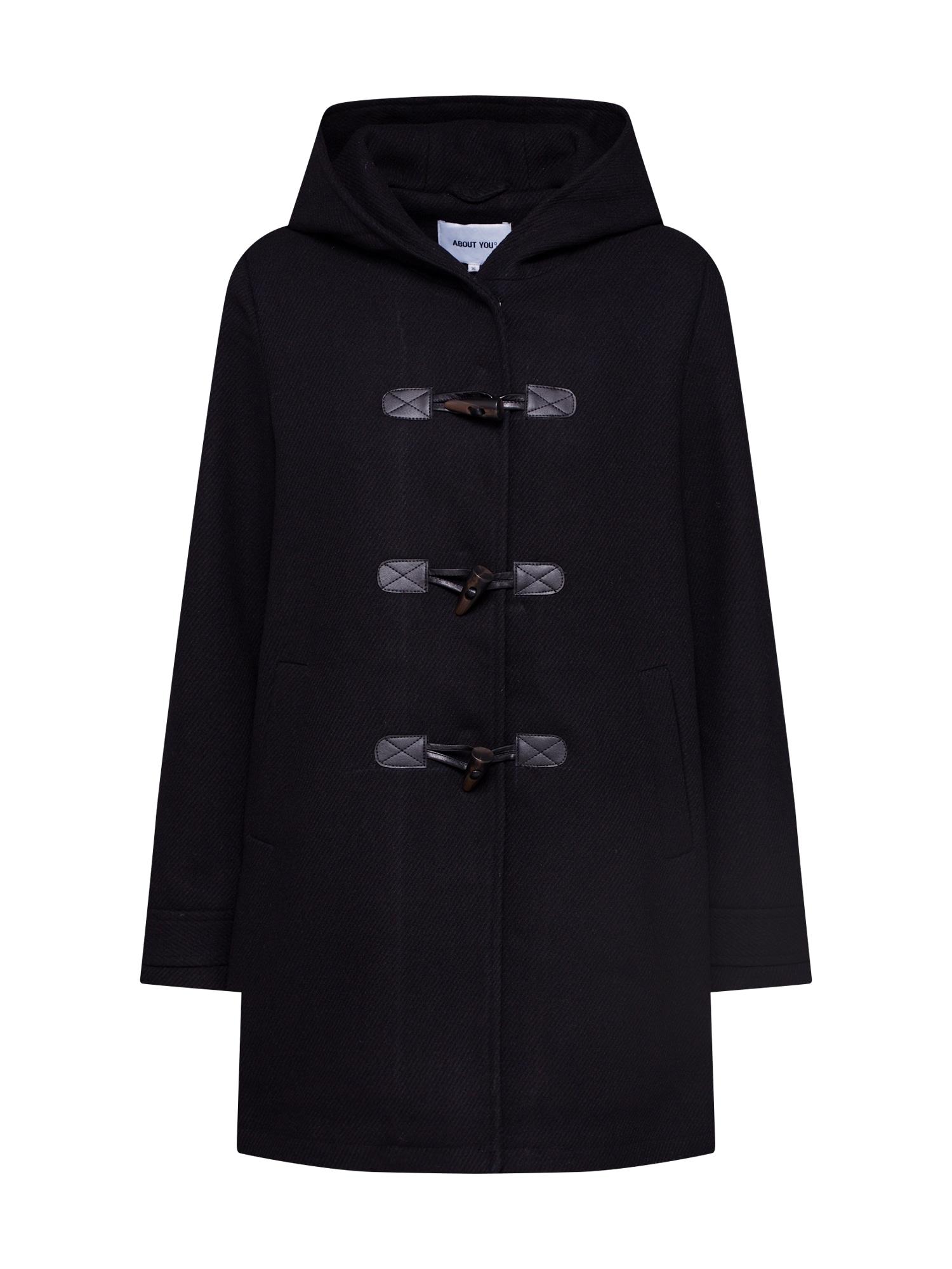 ABOUT YOU Rudeninis-žieminis paltas 'Birka' juoda