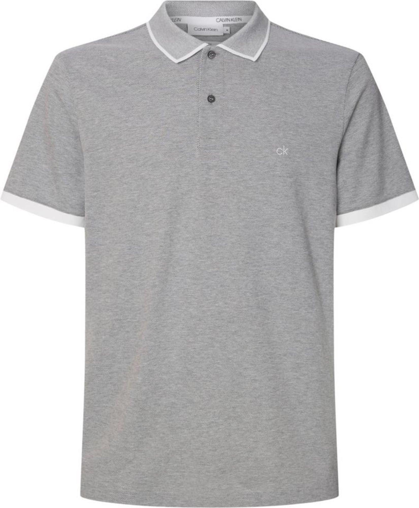 Calvin Klein Marškinėliai natūrali balta / pilka