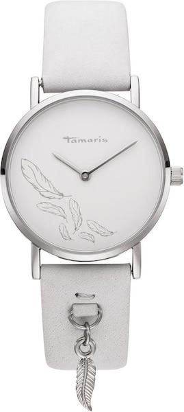 Uhren für Frauen - Uhr 'Bente, TW080' › tamaris › silber weiß  - Onlineshop ABOUT YOU