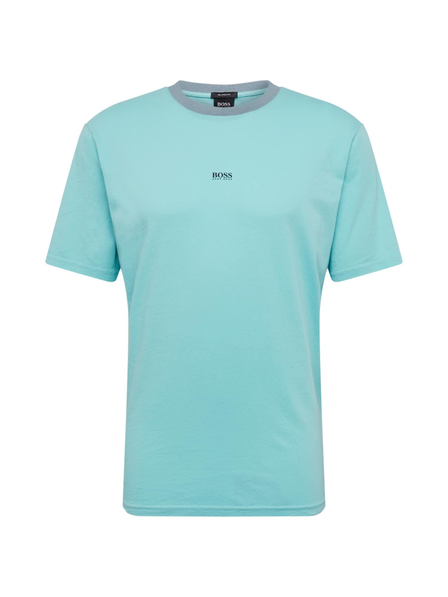 BOSS Marškinėliai mėtų spalva