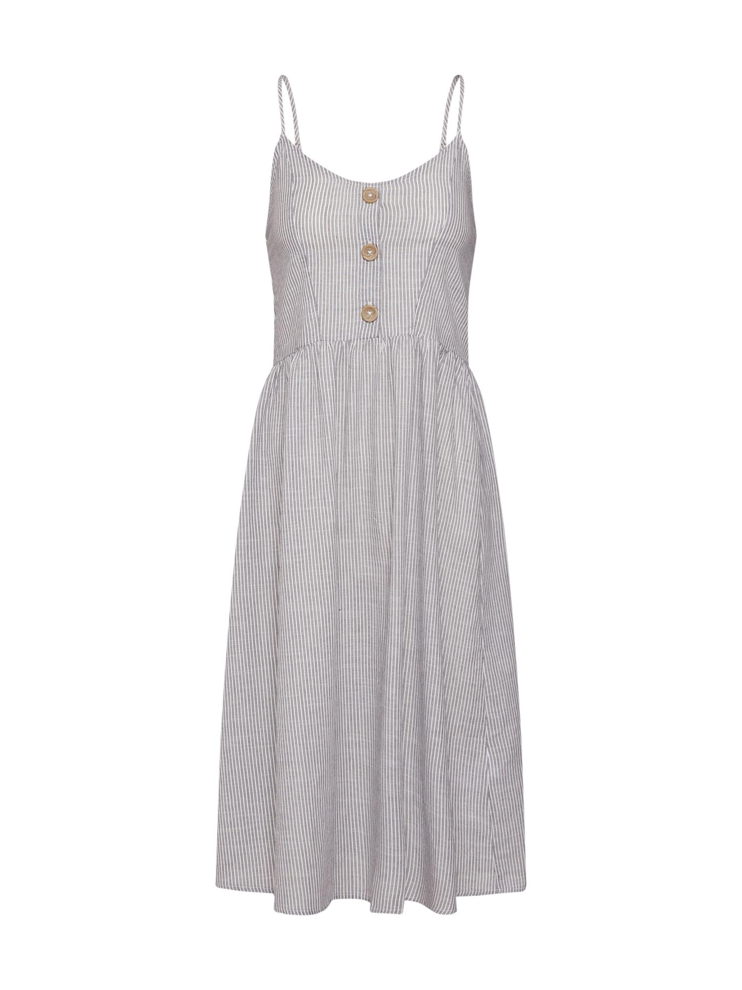 Letní šaty CATHY anthrazit weiß ONLY