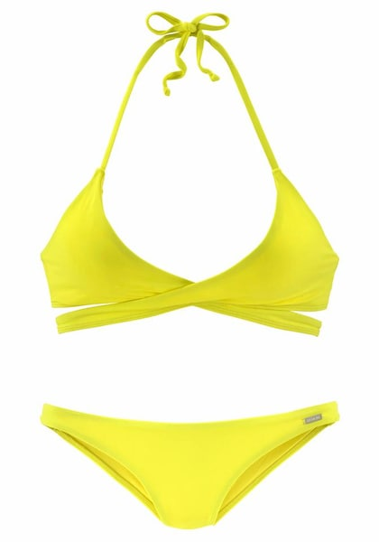 Bademode - Triangel Bikini in Wickeloptik › Bench › gelb  - Onlineshop ABOUT YOU