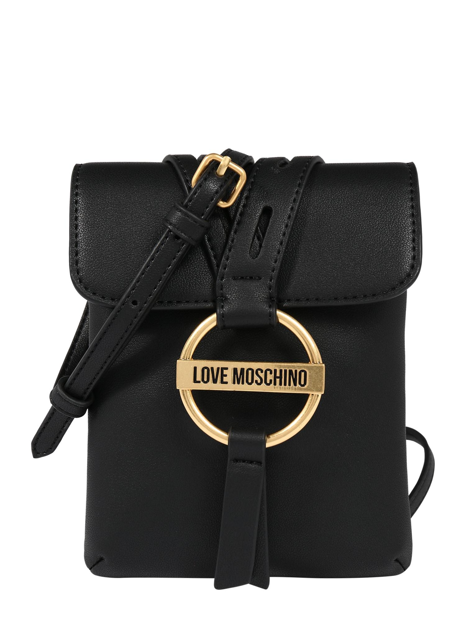 Love Moschino Taška přes rameno 'Borsa'  černá / zlatá
