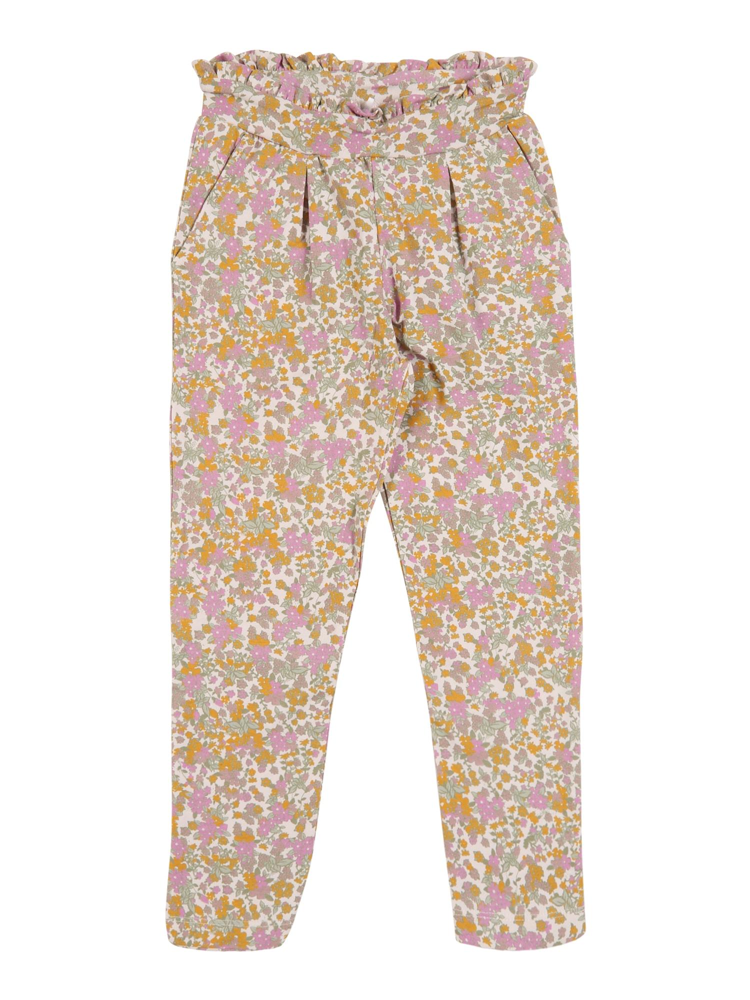 NAME IT Kelnės ryškiai rožinė spalva / rožių spalva / geltona