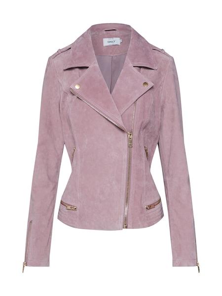 Jacken für Frauen - Lederjacke 'LUX SUEDE' › ONLY › rosé  - Onlineshop ABOUT YOU