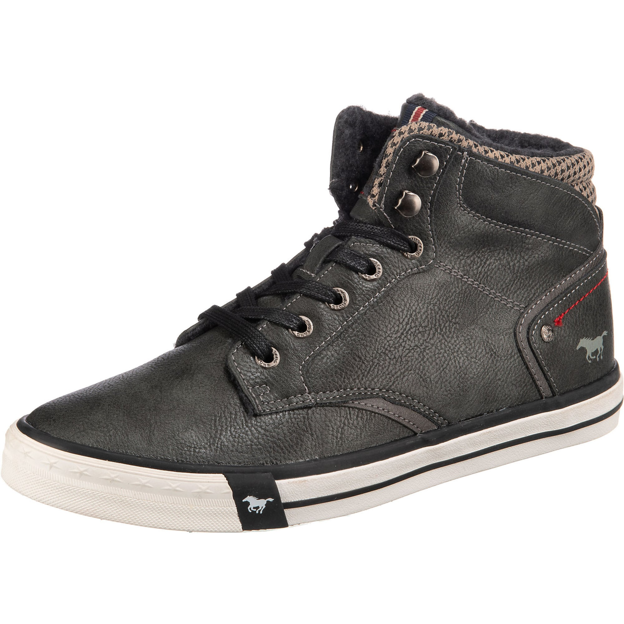 MUSTANG Auliniai batai su raišteliais antracito / rausvai pilka / šviesiai ruda
