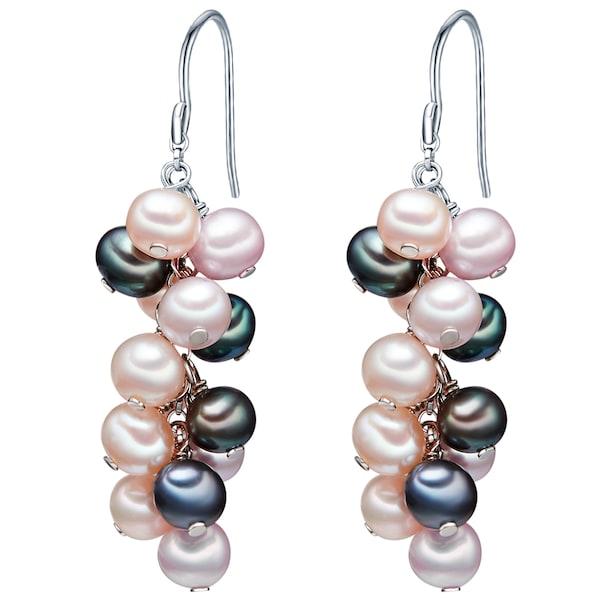 Ohrringe für Frauen - Valero Pearls Silberohrhänger mit Süßwasser Zuchtperlen blau cappuccino rosa silber  - Onlineshop ABOUT YOU