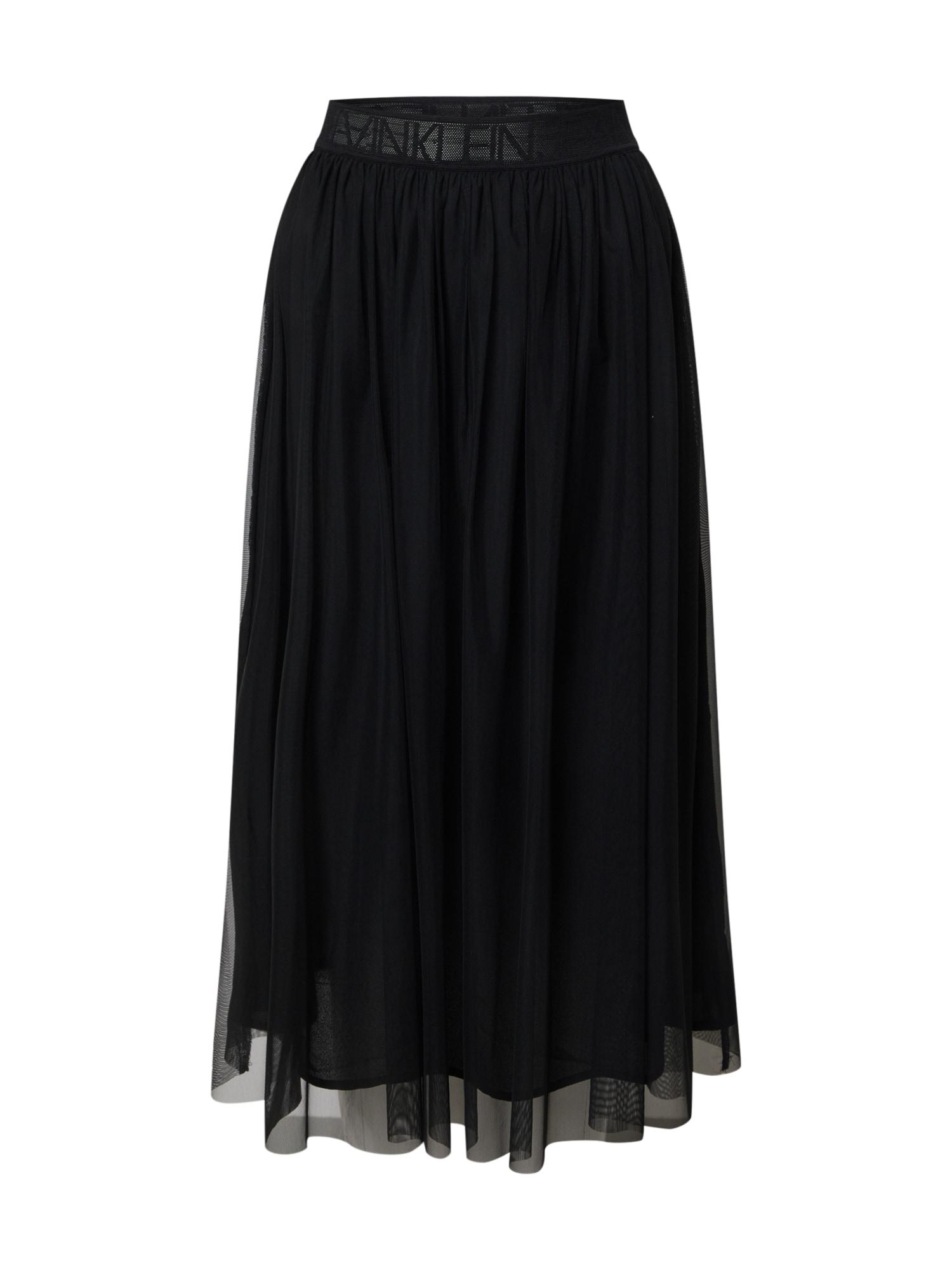 Calvin Klein Jeans Sijonas 'DOUBLE LAYER MESH SKIRT' juoda