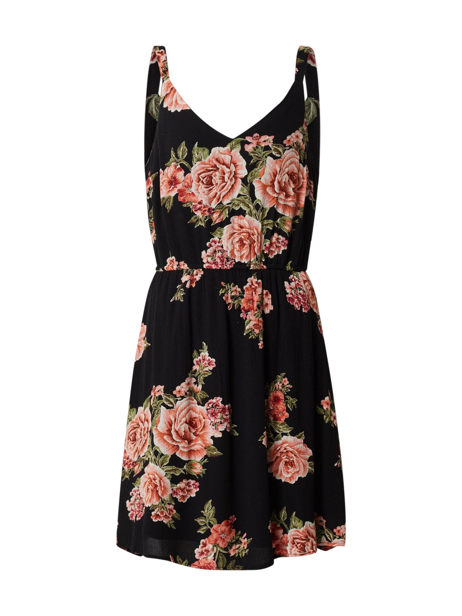 ONLY Letné šaty  čierna / oranžová