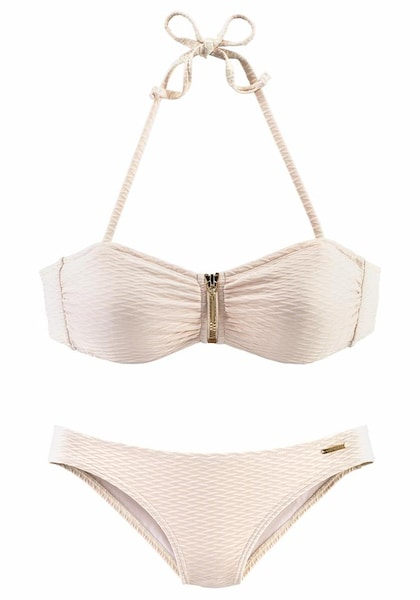 Bademode - Bandeau Bikini › Bruno Banani › creme  - Onlineshop ABOUT YOU
